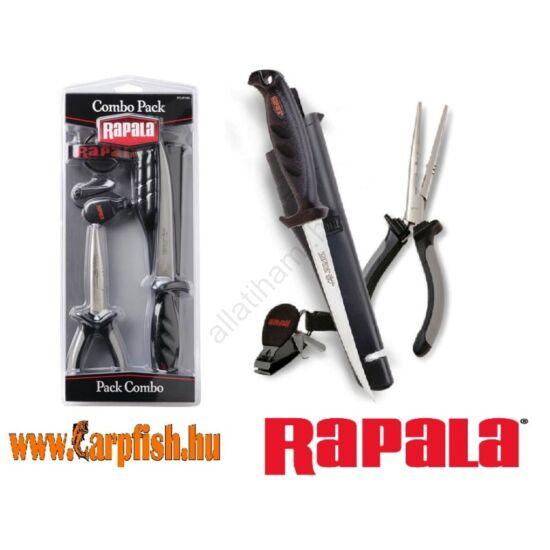 Rapala combo szett / Fogó+kés+zsinórvágó