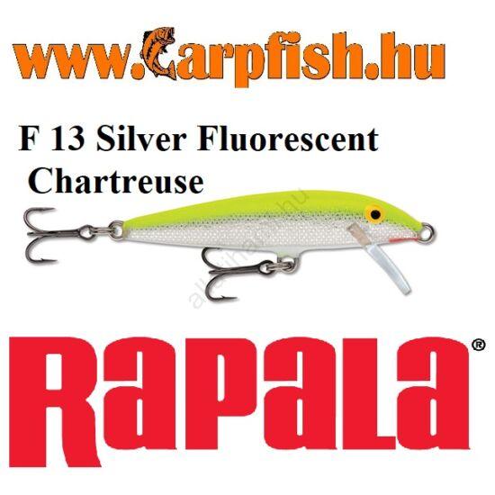 RAPALA Original Floater - 13cm / F13  Silver Fluorescent Chartreuse(F13SFC)