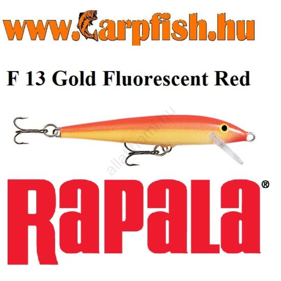 RAPALA Original Floater - 13cm / F13  Gold Fluorescent Red(F13GFR)