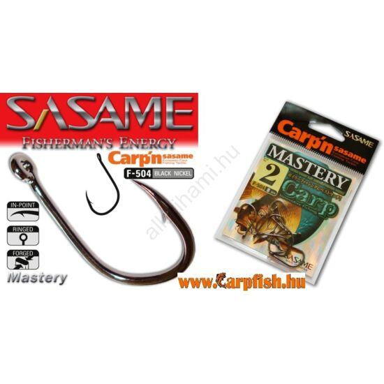 SASAME Mastery bojlis horog - Black Nickel  8db/cs