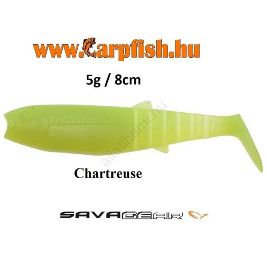 SAVAGE GEAR LB Cannibal  Chartreuse Gumihal  8cm / 5g