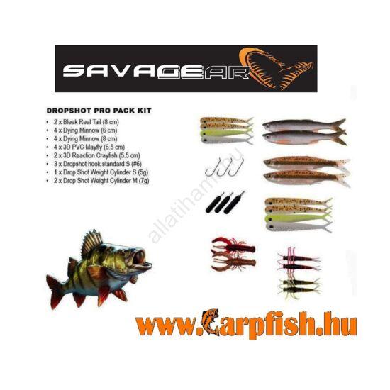 SAVAGE GEAR Dropshot Pro Pack Kit 22 darabos műcsali készlet