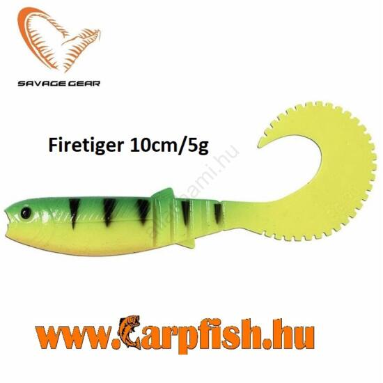Savage Gear LB Cannibal Curltail Firetiger 10cm/5g