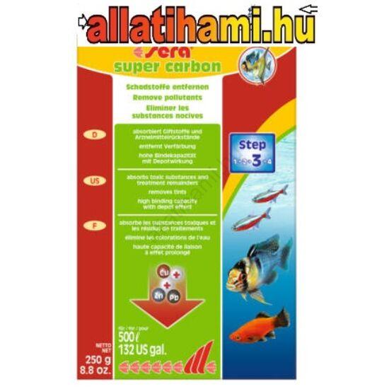 Sera Aktív Szén - akváriumi szűrőanyag (250g)