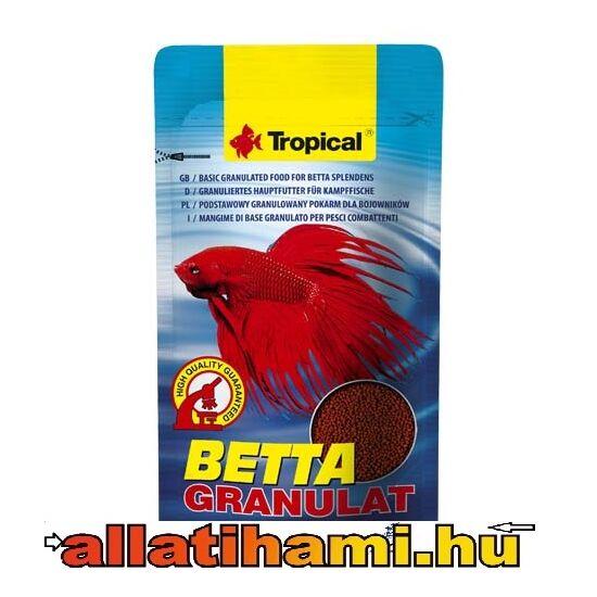 TROPICAL Betta Granulat 10g teljesértékű táp harcoshalaknak és labirinthalaknak